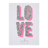 Stickers pailletés Love x 4 pcs