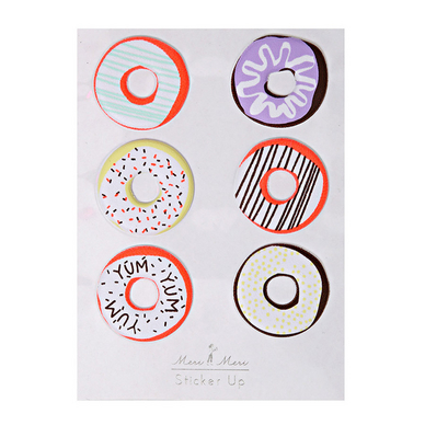 Stickers relief donut x 6 pcs