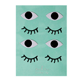 Stickers relief yeux x 8 pcs