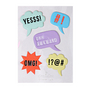 Stickers relief bulles conversations x 5 pcs