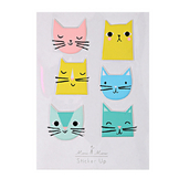 Stickers relief chats x 6 pcs