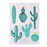 Stickers relief cactus x 6 pcs
