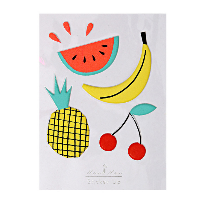 Stickers relief fruits x 7 pcs