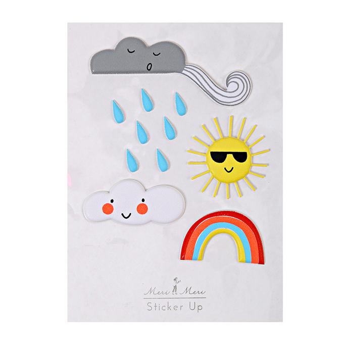 Stickers relief météo rigolote x 11 pcs