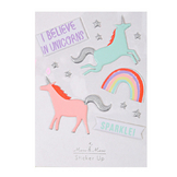 Stickers relief licorne x 12 pcs
