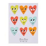 Stickers relief cœur x 9 pcs