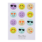 Stickers relief Emoji x 12 pcs