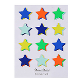 Stickers relief étoile fluo x 12 pcs