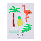 Stickers relief tropicaux x 5 pcs