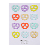 Stickers relief bretzel fluo x 12 pcs