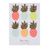 Stickers pailletés ananas fluo x  6 pcs