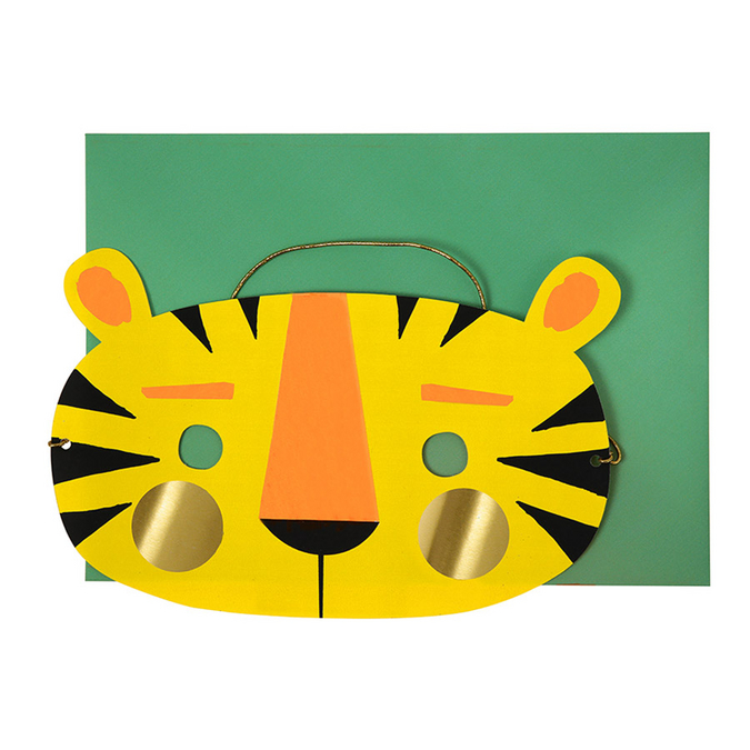 Carte d'invitation + enveloppe Tête de tigre