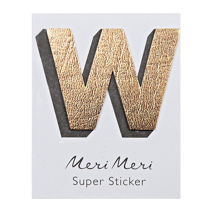 Sticker lettre W