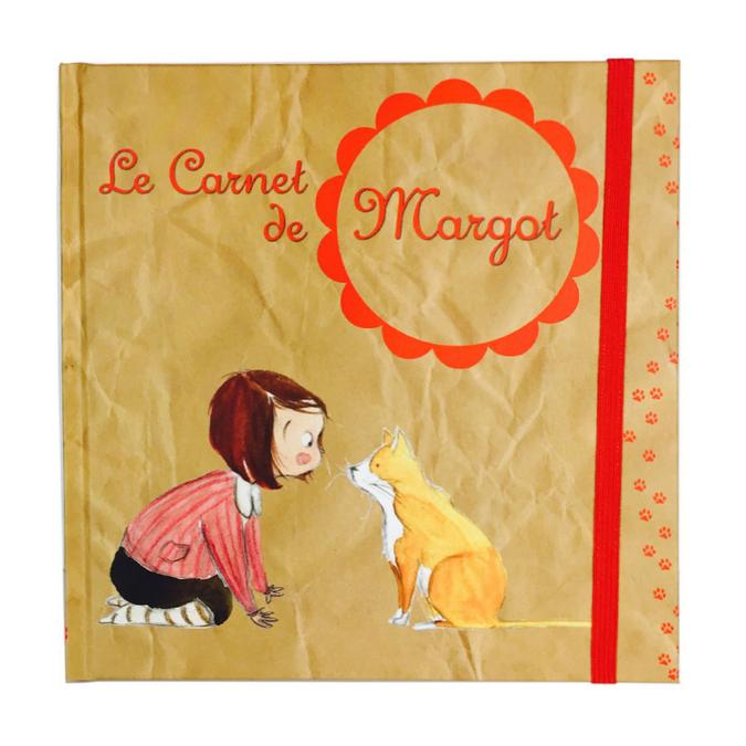 Carnet d'écriture Le Carnet de Margot - 16 x 16 cm 96 p.