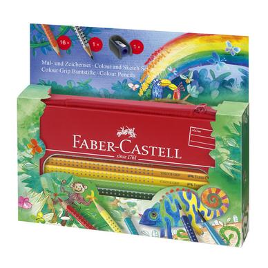 crayon de couleur aquarellable colour grip trousse set jungle faber castell chez rougier pl. Black Bedroom Furniture Sets. Home Design Ideas