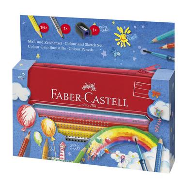 crayon de couleur aquarellable colour grip trousse set arc en ciel faber castell chez. Black Bedroom Furniture Sets. Home Design Ideas
