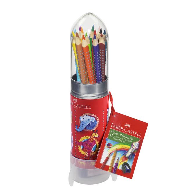 Crayon de couleur aquarellable Colour Grip + Set fusée