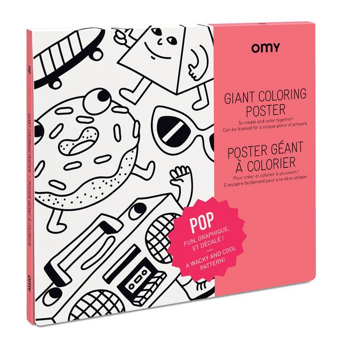Poster géant à colorier 100 x 70 cm - Thème Pop