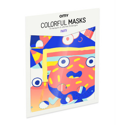 Masques à colorier Graphic - 8 pcs