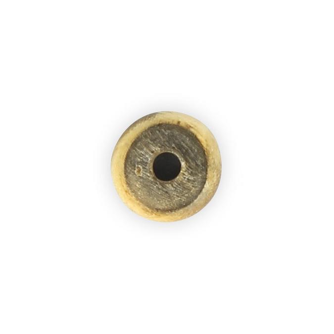 Perle corne ronde aplatie brun - beige - 10 mm