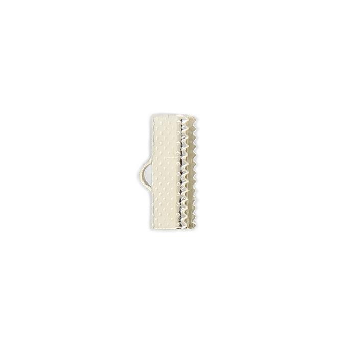 Pince ruban argent - 11 mm