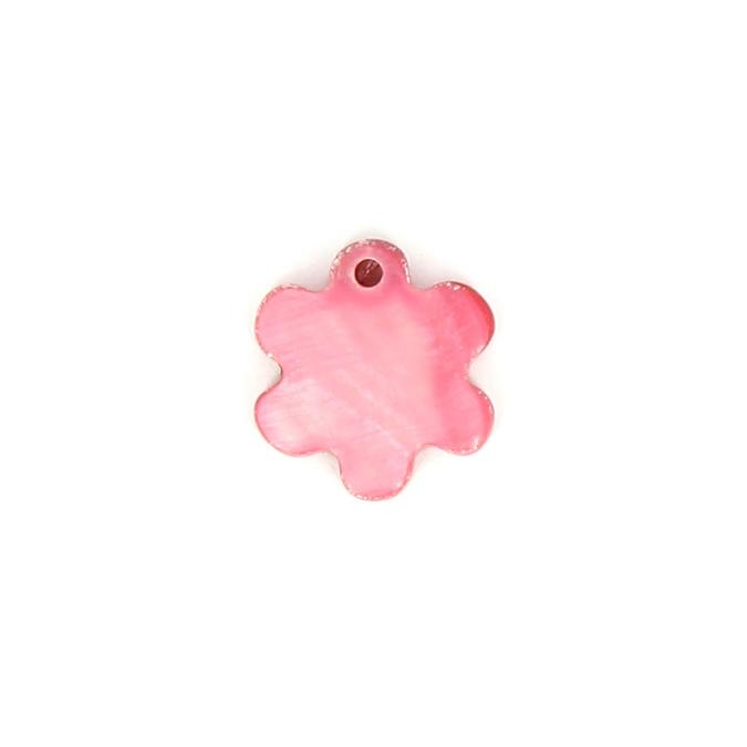 Sequin en nacre étoile rose framboise - 13,3 mm