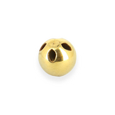 Bouton en métal boule 4 trous or brillant - 10 mm