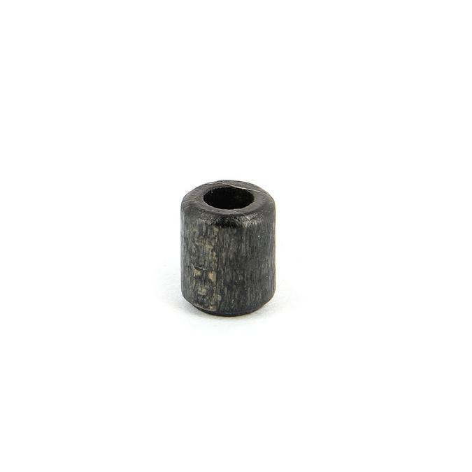 Perle tube bois noire - 10,5 x 12,5 mm