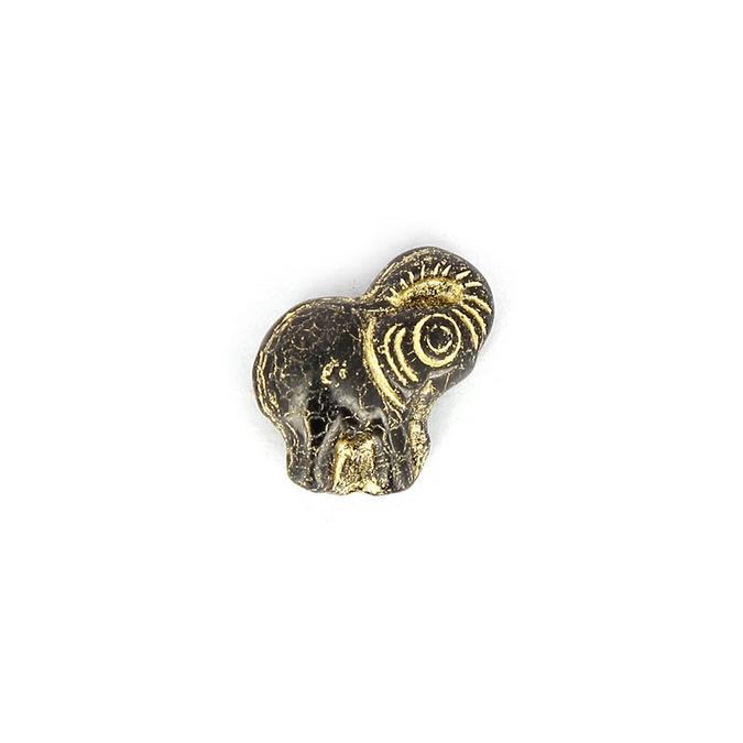Perre verre éléphant - 20,2 x 19 mm