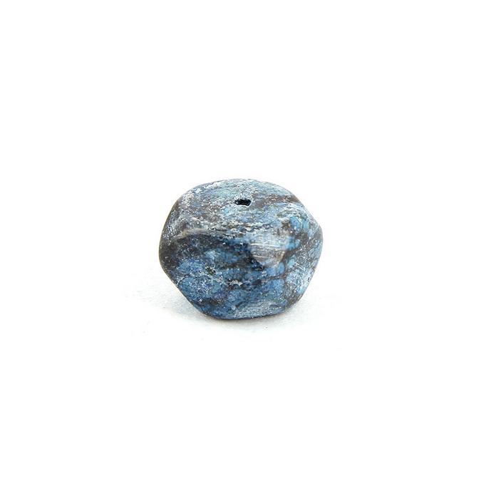 Perle en pierre cube bleu - noire 13,7 x 13,7 mm