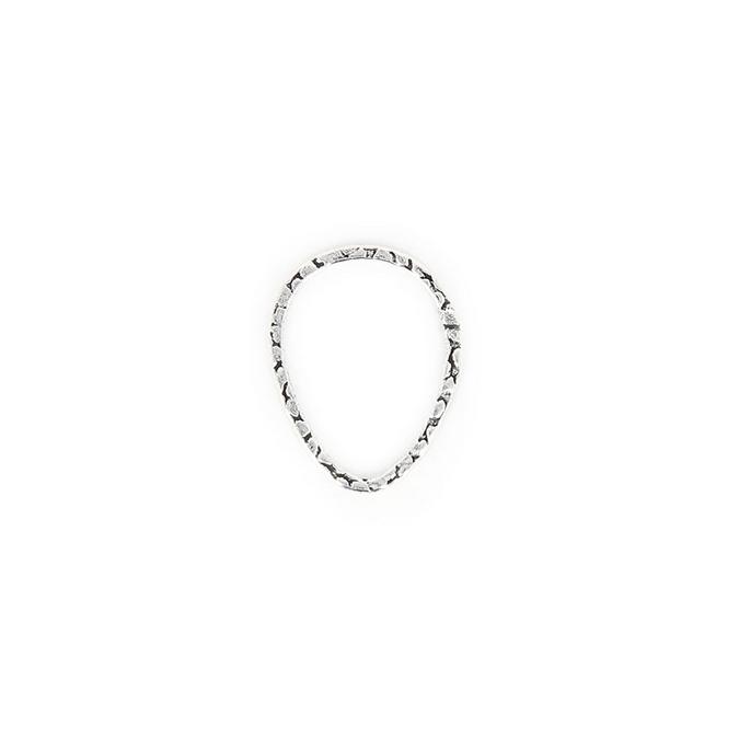 Anneau en métal filigrané oval argent brillant - 20 mm