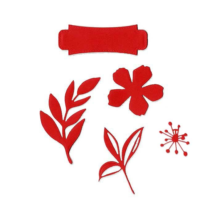 Matrice de coupe DIE Etiquette fleurie