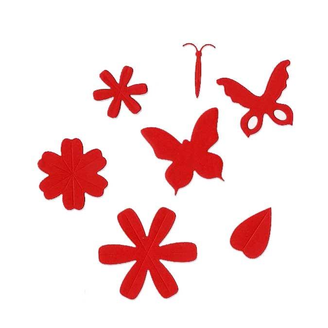 Matrice de coupe DIE Fleurs et papillons