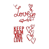 Matrice de coupe DIE Keep calm and love