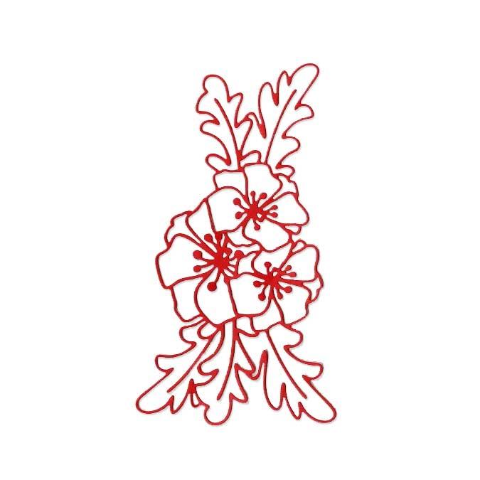 Matrice de coupe DIE Composition florale