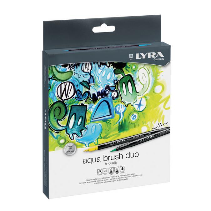 Feutre pinceau Aqua Brush Duo 24 couleurs