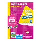 300 copies doubles A4 petits carreaux