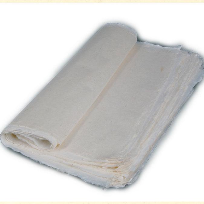Papier Lokta Japon Très fin 50 x 75 cm Blanc cassé