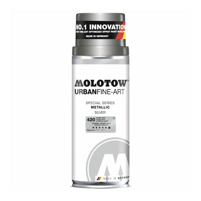 Bombe de peinture Urban Fine-Art Metallic 400 ml Argent