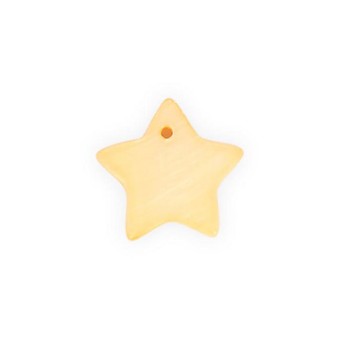 Sequin en nacre étoile orange abricot - 16 mm