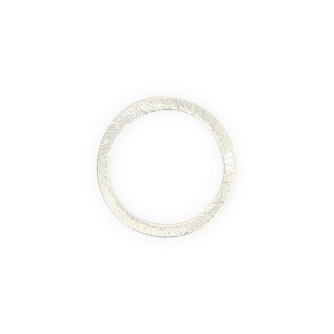 Anneau en métal filigrané argent brillant anneau - 20 mm