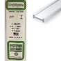 Baguette profile en I en plastique 350 x 6,3 x 2,9 mm - 3 pcs