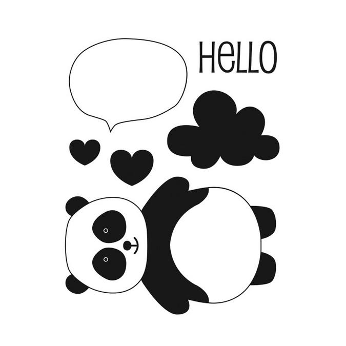 Tampons clear Adorable Panda - 6 pcs