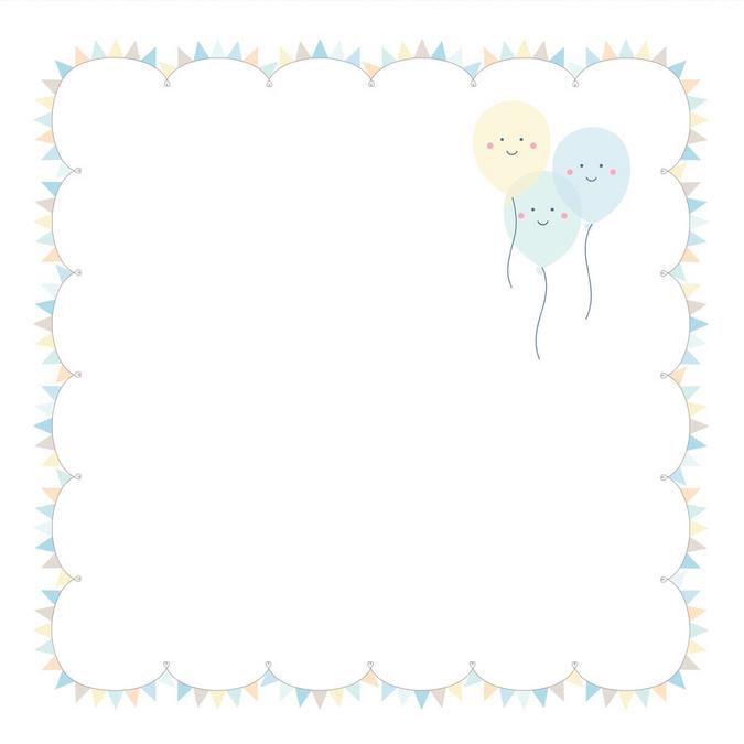 Papier Adorable Ballons 30 x 30 cm
