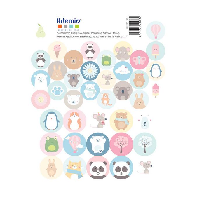 Stickers ronds Adorable 30 x 30 cm