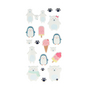 Stickers Puffies Adorable Glaces x 18 pcs