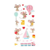 Stickers Puffies Adorable Souris x 20 pcs