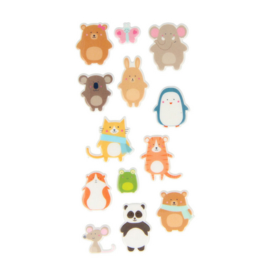 Stickers Puffies Adorable Animaux x 13 pcs