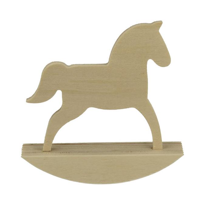 Cheval à bascule en bois Adorable 25 x 24,5 cm
