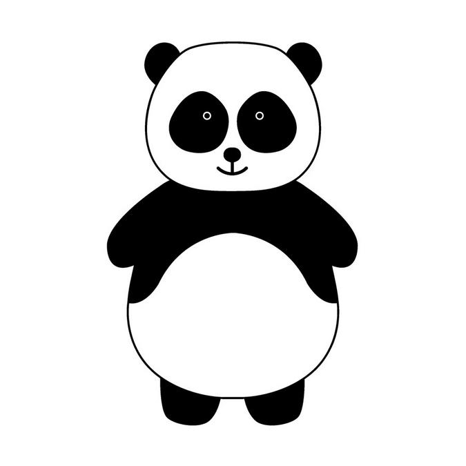 Tampon en bois Adorable Panda 4 x 5 cm